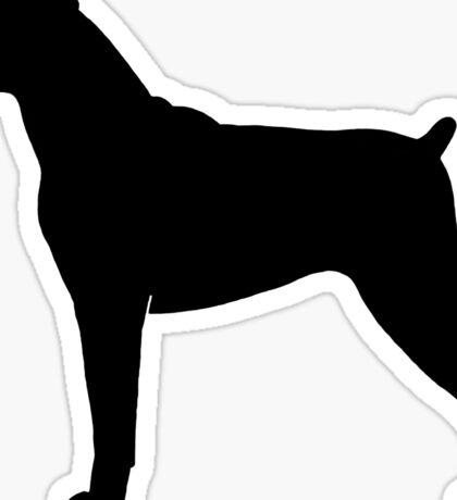 Boxer Dog Silhouette(s) Sticker
