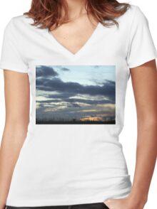Dusk in York Women's Fitted V-Neck T-Shirt