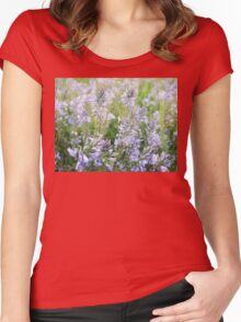 Blue flowes Women's Fitted Scoop T-Shirt