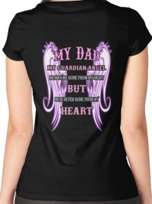 MY DAD MY GUARDIAN ANGEL MY HEART Women's Fitted Scoop T-Shirt