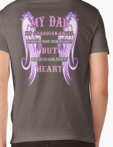 MY DAD MY GUARDIAN ANGEL MY HEART Mens V-Neck T-Shirt