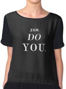 You Do You: White - SWEATSHIRT  Chiffon Top