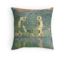 Klimt - The Schloss Kammer On The Attersee Iii Throw Pillow