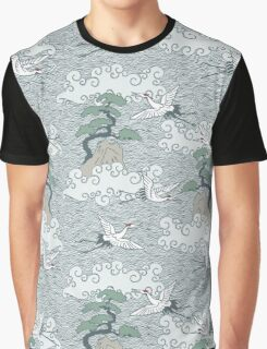 Cranes flying over the sea Graphic T-Shirt