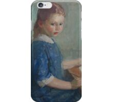 Karl Albert Buehr - The Artist S Daughter Lydia  iPhone Case/Skin