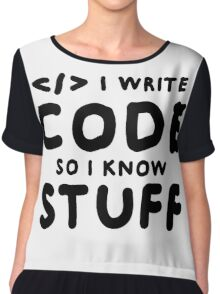 Programmers know stuff Chiffon Top