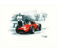 1960  Dino 246p. GP Monaco Art Print