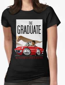 Alfa Romeo Duetto caricature from the Graduate Womens Fitted T-Shirt