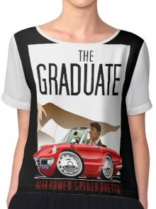 Alfa Romeo Duetto caricature from the Graduate Chiffon Top