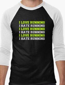 Love Running  Men's Baseball ¾ T-Shirt