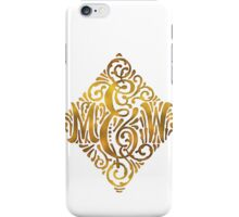 Wedding Monogram in Gold Letters M and W iPhone Case/Skin