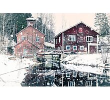 Old fish farming factory Photographic Print