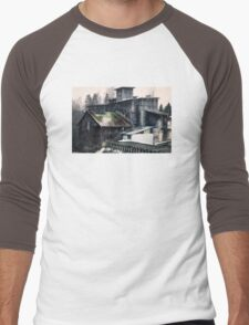 Old abandoned mill Men's Baseball ¾ T-Shirt