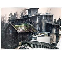 Old abandoned mill Poster