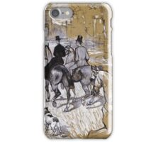 Henri De Toulouse-Lautrec - Riders On The Way To The Bois Du Bolougne iPhone Case/Skin