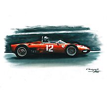 1962  Ferrari 156 F1 sharknose Photographic Print
