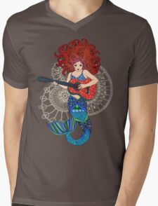 Musical Mermaid Mens V-Neck T-Shirt