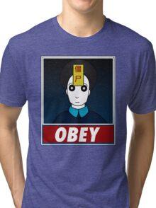Jiangshi-Obey Tri-blend T-Shirt