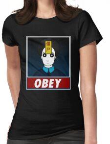 Jiangshi-Obey Womens Fitted T-Shirt