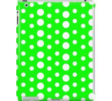 Polka Dots (Green/White) iPad Case/Skin