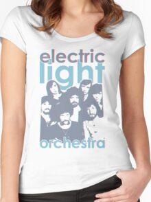 E.L.O. Modern 3D Women's Fitted Scoop T-Shirt