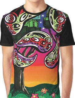 Catdrops at Dusk Graphic T-Shirt