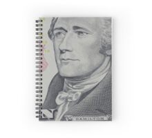 portrait of the American president  Hamilton Spiral Notebook