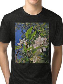 Flowers in White (Ver. 2) Tri-blend T-Shirt