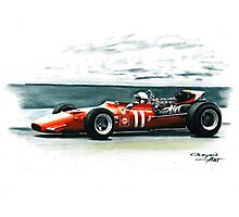 1969  Ferrari 312 F1 Photographic Print