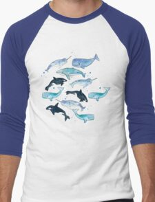 Whales, Orcas & Narwhals Men's Baseball ¾ T-Shirt