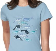 Whales, Orcas & Narwhals Womens Fitted T-Shirt