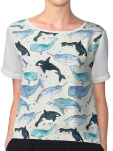 Whales, Orcas & Narwhals Chiffon Top