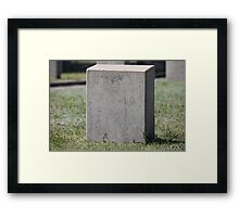 empty gravestone unknown soldier Framed Print