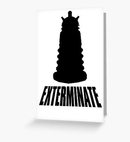 Dalek - Dr Who Greeting Card