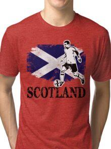 Soccer - Fußball - Scotland Flag Tri-blend T-Shirt
