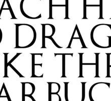 21st Century Khaleesi Business (Black TXT) Sticker