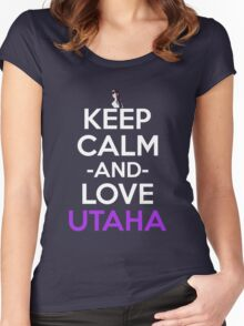 Keep Calm And Love Utaha Anime Shirt Women's Fitted Scoop T-Shirt