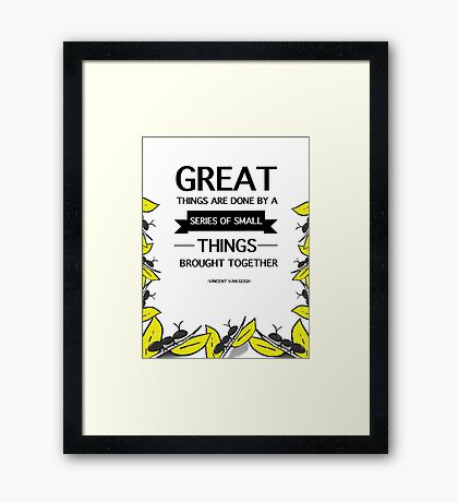 Great things Framed Print