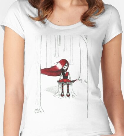 Don't go Down to the Woods Women's Fitted Scoop T-Shirt
