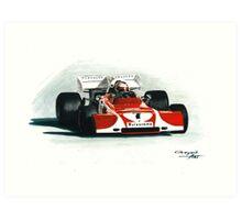 1972  Ferrari 312B2. South African GP Art Print