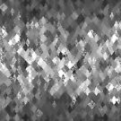 Monochrome Abstract Harlequin Pattern  by Ra12