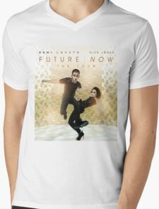 Demi Lovato Nick Jonas Future Now Mens V-Neck T-Shirt
