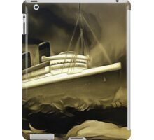 An old style digital painting of RMS Queen Mary iPad Case/Skin