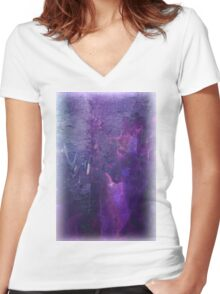 abstract Women's Fitted V-Neck T-Shirt
