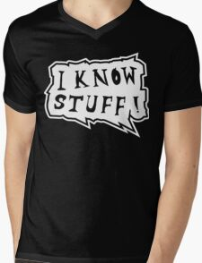 I know stuff Mens V-Neck T-Shirt