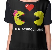 Old School Love - Ms. Pacman and Pac Man - Act I / Act One Chiffon Top