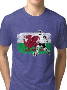 Soccer - Fußball - Wales Flag Tri-blend T-Shirt
