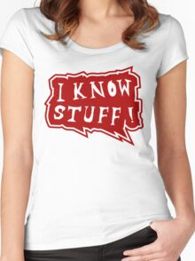 I know stuff Women's Fitted Scoop T-Shirt