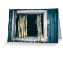 Faded curtains Greeting Card