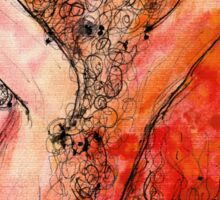 Evening Light - Abstract Nude Watercolour Sticker